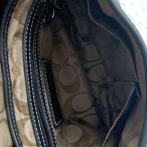 Coach Bags - Coach Black Leather Buckle Flap Shoulder Bag